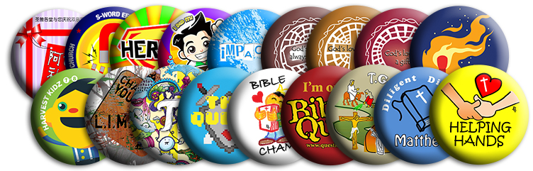 Service Church Button Badges