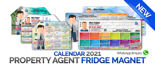 Fridge magnet calendar 2021