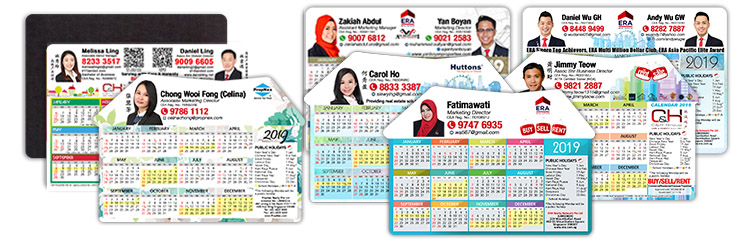 Calendar Fridge Magnets For Property Agents