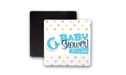 Baby Shower Square Fridge Magnet