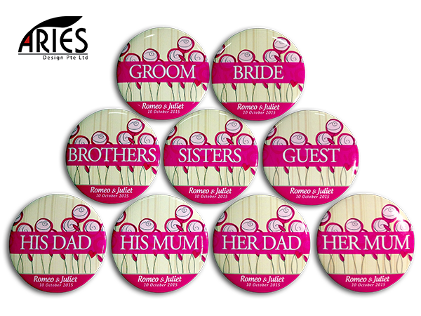 Wedding Button Badge Design 2