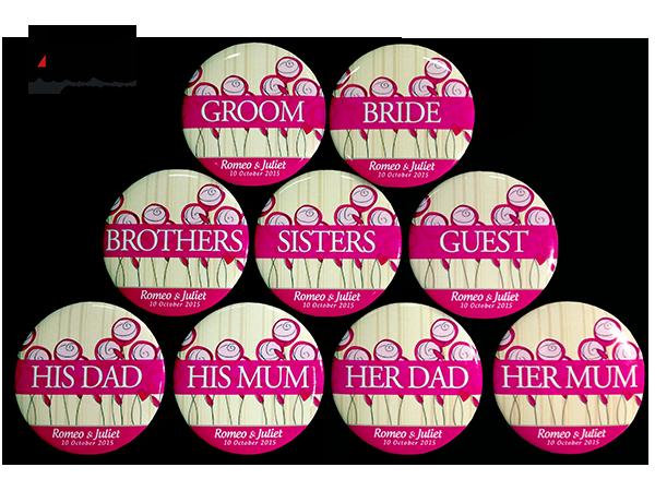 Button Badge Design wedding button badges