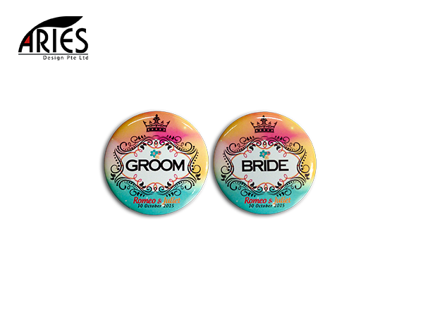 Wedding Button Badge Design 6
