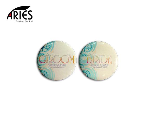Wedding Button Badge Design 4