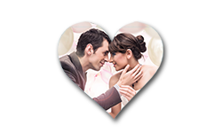 Wedding Heart Shape Fridge Magnet