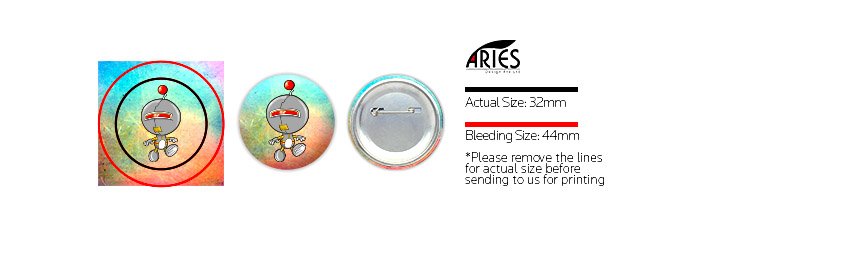 32mm Button Badge Guide